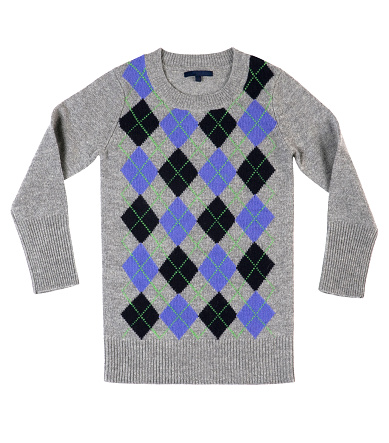 Cool Attitude「Modern preppy sweater in gray with black and blue」:スマホ壁紙(5)