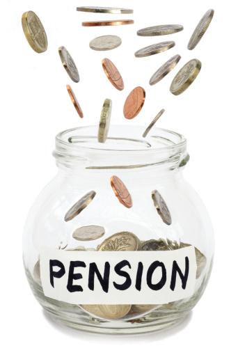 Single Word「Coins falling into jam jar labelled pension.」:スマホ壁紙(16)