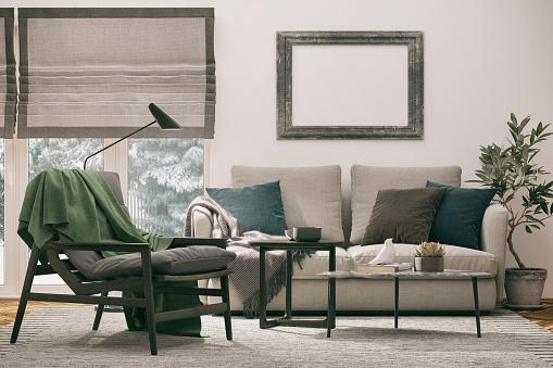 Wallpaper - Decor「Cozy Armchair and Sofa」:スマホ壁紙(3)