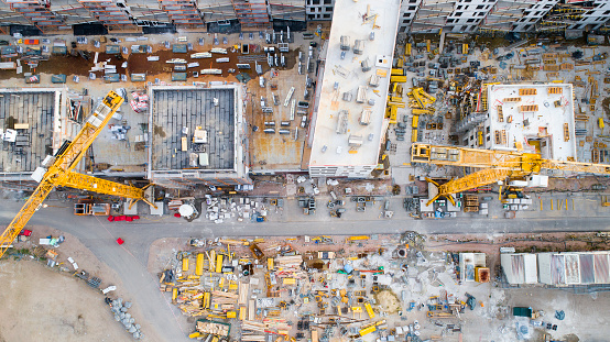 Construction Machinery「Construction site - aerial view」:スマホ壁紙(19)