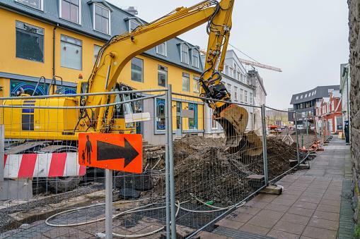 Construction Vehicle「Construction site, Reykjavik, Iceland」:スマホ壁紙(11)