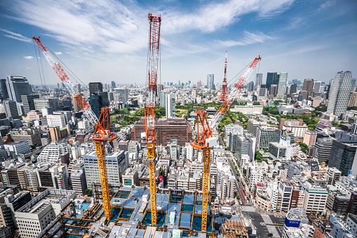 Tokyo Tower「Construction Site in Tokyo」:スマホ壁紙(5)