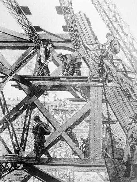 エッフェル塔「Tower Construction」:写真・画像(9)[壁紙.com]
