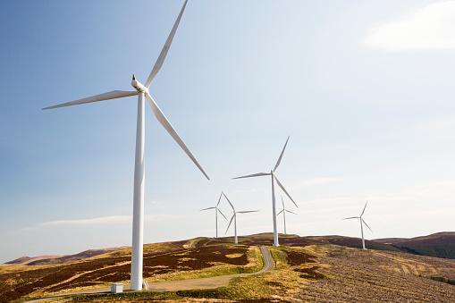 Wind Turbine「The Clyde Wind Farm in the Southern Uplands of Scotland near Biggar.」:スマホ壁紙(11)