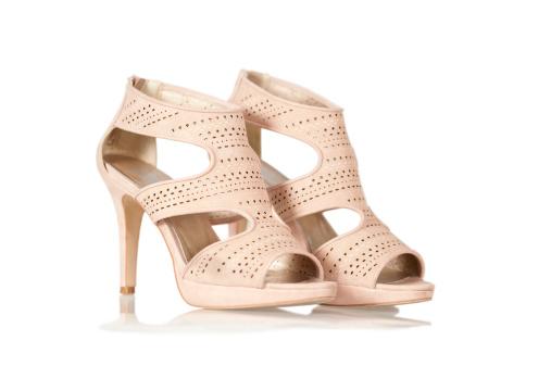 Ankle Strap Shoe「Elegant High Heels sandals in nude color」:スマホ壁紙(5)