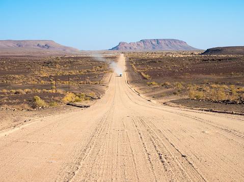 Dust「Africa, Namibia, gravel road, C12 road」:スマホ壁紙(16)