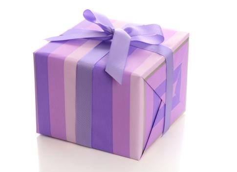 Square Shape「Purple gift box with ribbon」:スマホ壁紙(5)