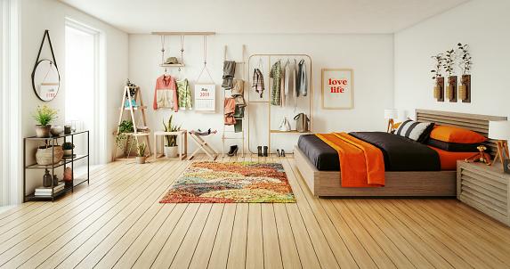 Bedroom「Cozy Bedroom」:スマホ壁紙(3)