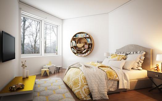 Double Bed「Cozy Bedroom」:スマホ壁紙(7)