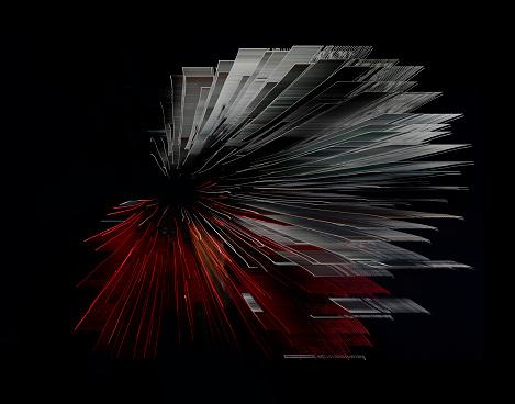 花火「digital altered fireworks resembling digital world」:スマホ壁紙(13)