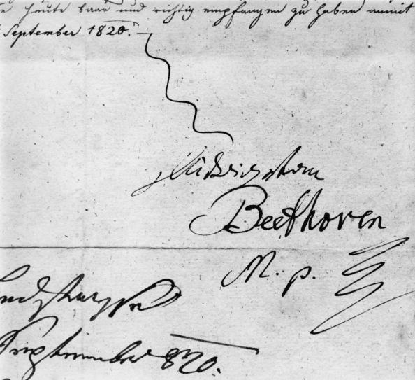 Writing「Beethoven's Signature」:写真・画像(9)[壁紙.com]