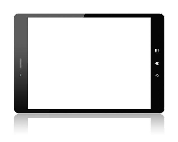Digital Tablet PC (Clipping path!) isolated on white:スマホ壁紙(壁紙.com)