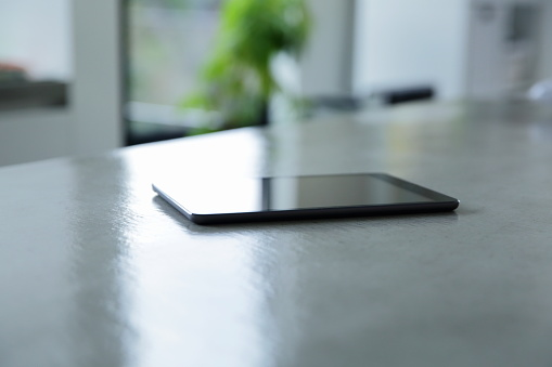 Portability「Digital tablet on the table in living room」:スマホ壁紙(2)
