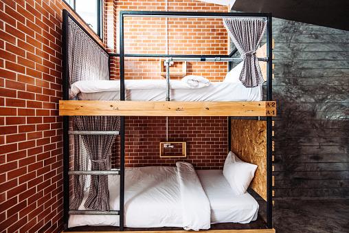 Hostel「Dormitory room in the modern hostel」:スマホ壁紙(1)