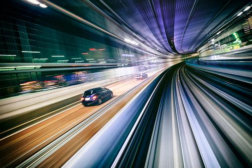 Tokyo - Japan「Night Train in Japan」:スマホ壁紙(7)