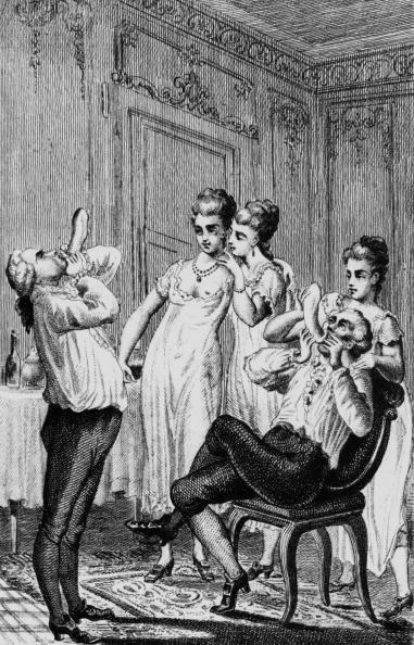 Contraceptive「Jean-Jacques Casanova (1725 - 1798) italian seducer, adventurer, here blowing up condom, engraving」:写真・画像(6)[壁紙.com]