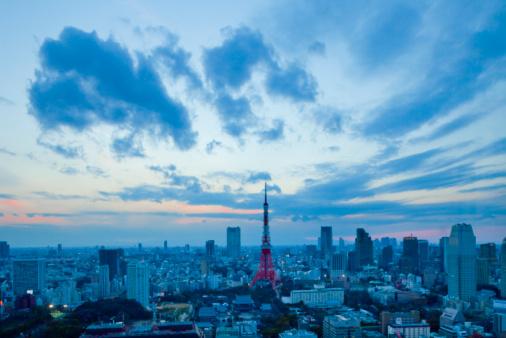 Tokyo Tower「Cityscape of Minato Ward at dusk」:スマホ壁紙(2)