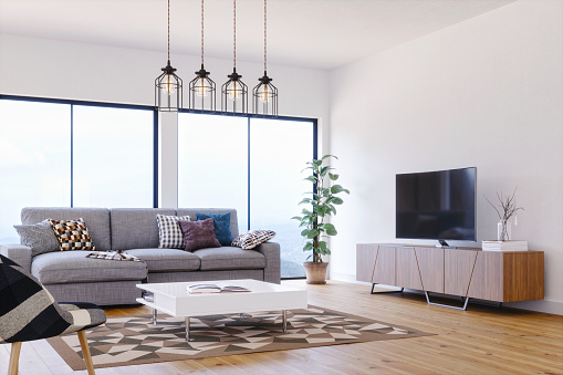 Clean「Modern, Bright And Airy Scandinavian Design Living Room」:スマホ壁紙(12)