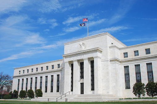 Inflation「The US Federal Reserve building in Washington DC」:スマホ壁紙(16)