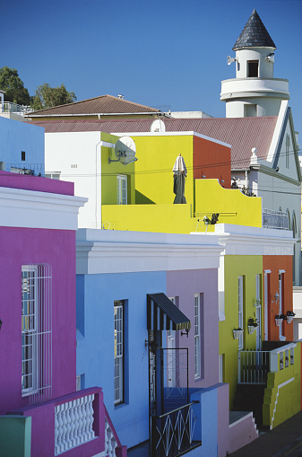 Malay Quarter「South Africa, Cape Town, Bo Kaap, brightly coloured houses」:スマホ壁紙(19)