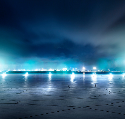 Parking Lot「Night parking lot」:スマホ壁紙(8)