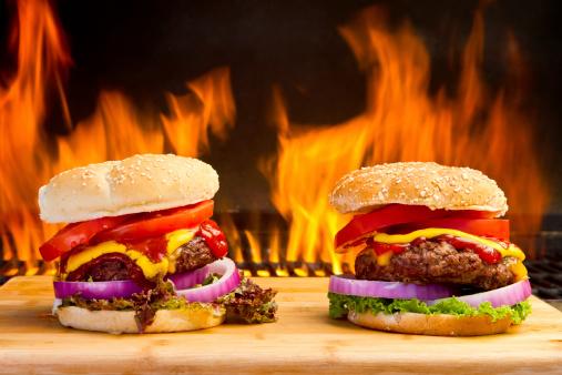 Cheeseburger「Two Big Cheeseburgers with Pretty Flames」:スマホ壁紙(19)