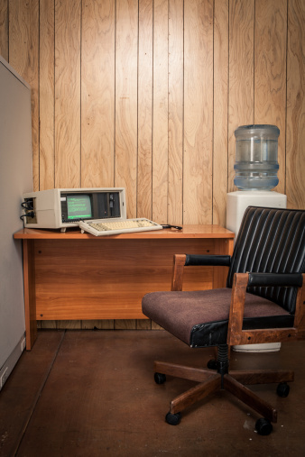 Wood Paneling「Vacant vintage 70's or 80's wood office interior」:スマホ壁紙(17)