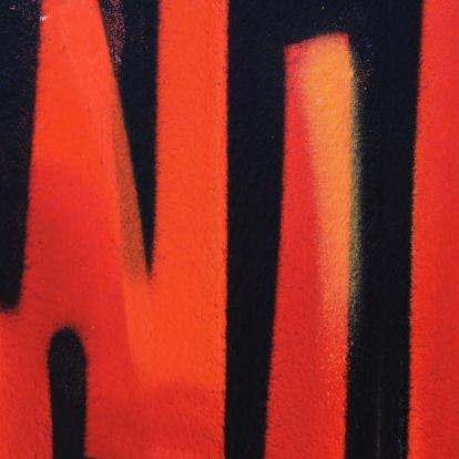 Danish Culture「Black and orange graffiti square」:スマホ壁紙(7)