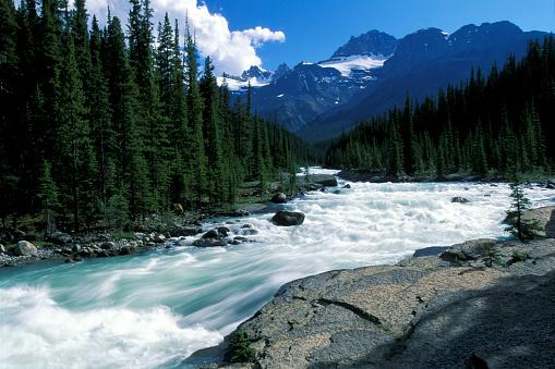 サンワプタ川「Sunwapta Falls, Jasper National Park, Alberta, Canada.」:スマホ壁紙(6)
