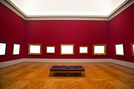 Frame - Border「Blank frames hanging on art gallery wall.」:スマホ壁紙(8)