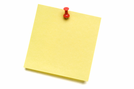 Adhesive Note「Yellow Post-it with Push Pin」:スマホ壁紙(5)