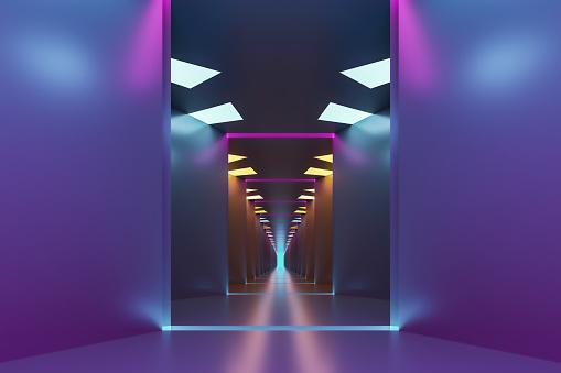 Footpath「Empty futuristic corridor」:スマホ壁紙(0)