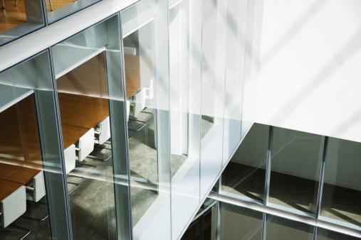 Light - Natural Phenomenon「Glass walls in atrium of office building」:スマホ壁紙(9)