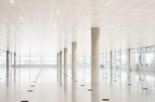 Architectural Column「Still life of modern empty office space」:スマホ壁紙(0)