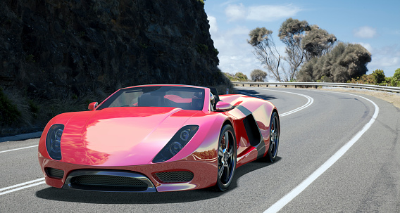 Driving「Sports Car on Coastal Road.」:スマホ壁紙(16)