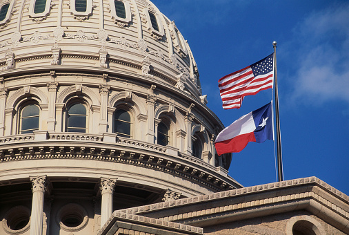 Politics「Texas State Capitol Dome and Flags」:スマホ壁紙(16)