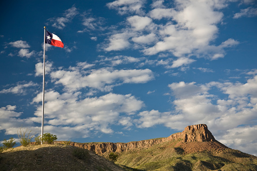 Texas「Texas State Flag and Bluff」:スマホ壁紙(7)