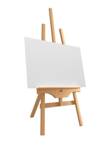 Art「Blank canvas on large wooden easel」:スマホ壁紙(6)