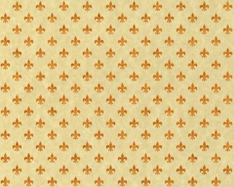 Regency Style「High resolution fleur de lis on beige paper」:スマホ壁紙(3)