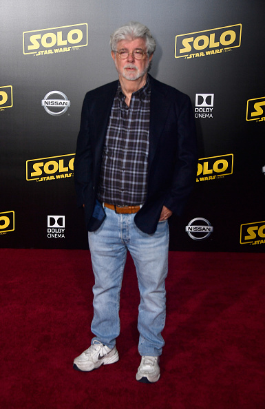 """George Lucas「Premiere Of Disney Pictures And Lucasfilm's """"Solo: A Star Wars Story"""" - Arrivals」:写真・画像(6)[壁紙.com]"""