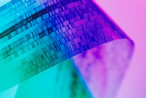 Genetic Research「DNA gel close up」:スマホ壁紙(12)
