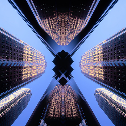 Digital Composite「Financial district of Toronto, Canada」:スマホ壁紙(15)