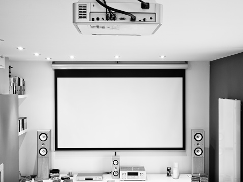 Projection Screen「home theater system, HD projector, large screen, hifi sound system」:スマホ壁紙(19)