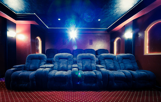 Basement「Home Theater Room with Lens Flare」:スマホ壁紙(18)