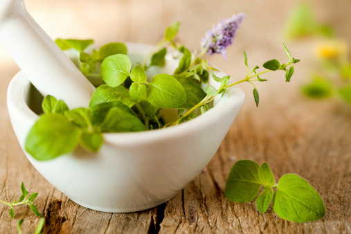 Mint Leaf - Culinary「Herbes de Provence in a white mortar」:スマホ壁紙(17)