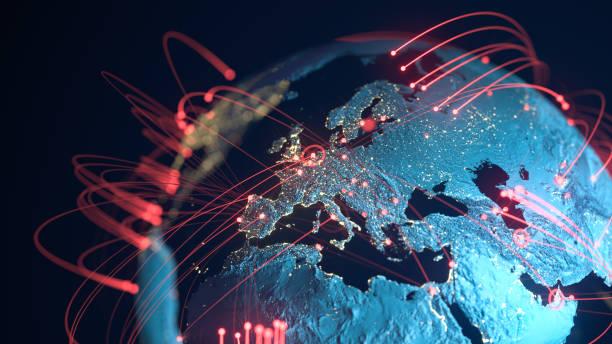 Global Connection Lines - Data Exchange, Pandemic, Computer Virus:スマホ壁紙(壁紙.com)