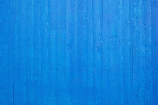 Carpentry「Fresh clean newly painted blue wooden plank wall」:スマホ壁紙(8)