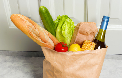Online Shopping「Weekly shop in paperbag」:スマホ壁紙(17)