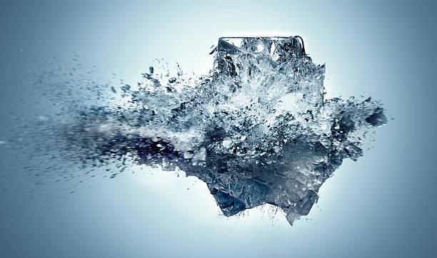 Exploding Ice:スマホ壁紙(壁紙.com)