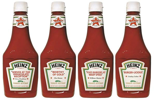 Condiment「Heinz new Celebrity Talking Labels」:写真・画像(2)[壁紙.com]
